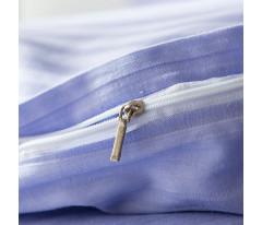 Постельное белье Однотонный страйп-сатин CR005 2 спальный 4 наволочки