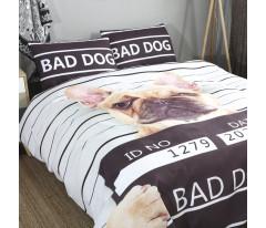 Прикольное постельное белье CFA001  наволочки 50-70 2 шт. Плохая Собака