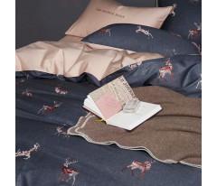Комплект постельного белья Сатин Премиум CPA009 Евро наволочки 50-70