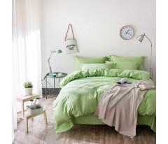 Постельное белье Однотонный страйп-сатин на резинке CFR009 2 спальный 4 наволочки