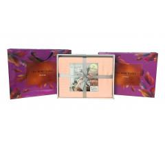 Постельное белье Однотонный страйп-сатин на резинке CFR005 2 спальный 4 наволочки