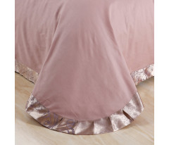 "Жаккард с вышивкой ""Ситрейд"" H044-Е (Пудровая роза)"