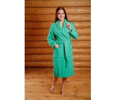 Халат махровый женский шаль. Розовый, голубой, зеленый, желтый, сиреневый