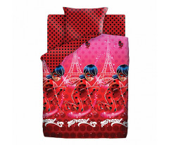 Комплект постельного белья 1.5 хлопок LadyBug (70х70) рис. 16024-1/16023-1 Леди Баг