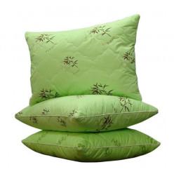 Подушка с натуральным растительным наполнителем - бамбук, чехол хлопок - сатин
