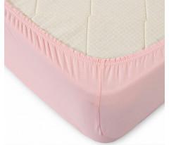 Простыня на резинке (розовая)