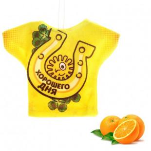 """Ароматизатор для авто футболка """"Хорошего дня"""" (Апельсин)"""